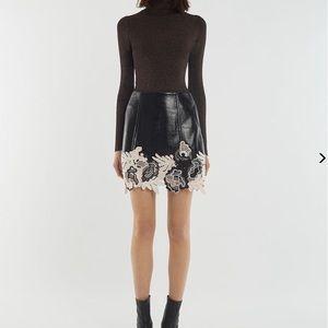 Phillip Lim Vinyl Lace Skirt